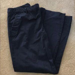Women's Gap Navy Boot Cut Khaki Pants